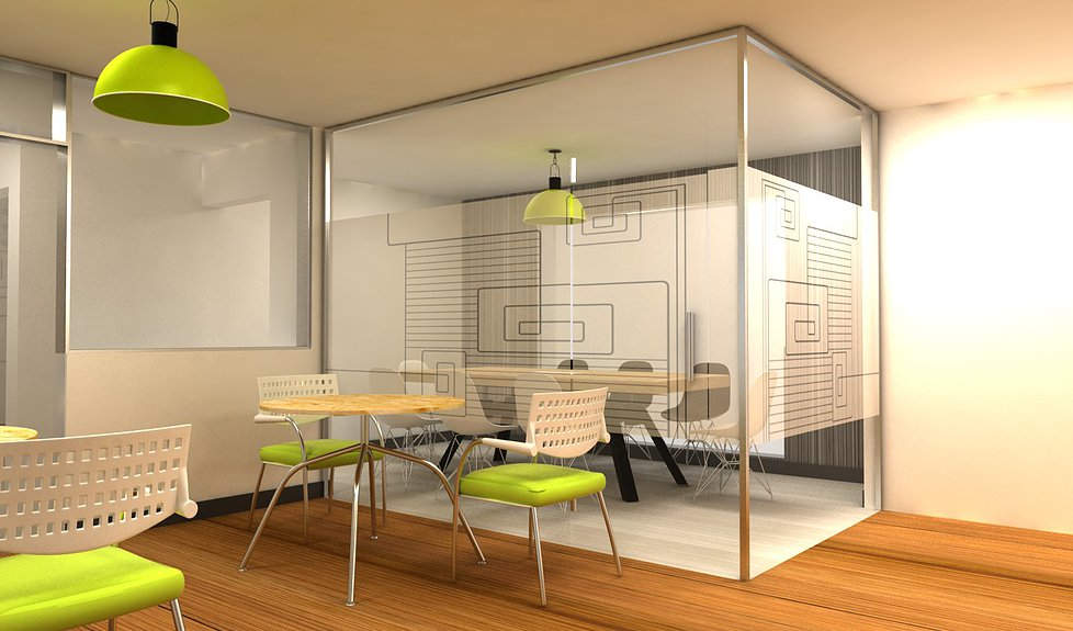 Dise o y decoraci n de interiores para oficina dise o de for Oficinas interiores