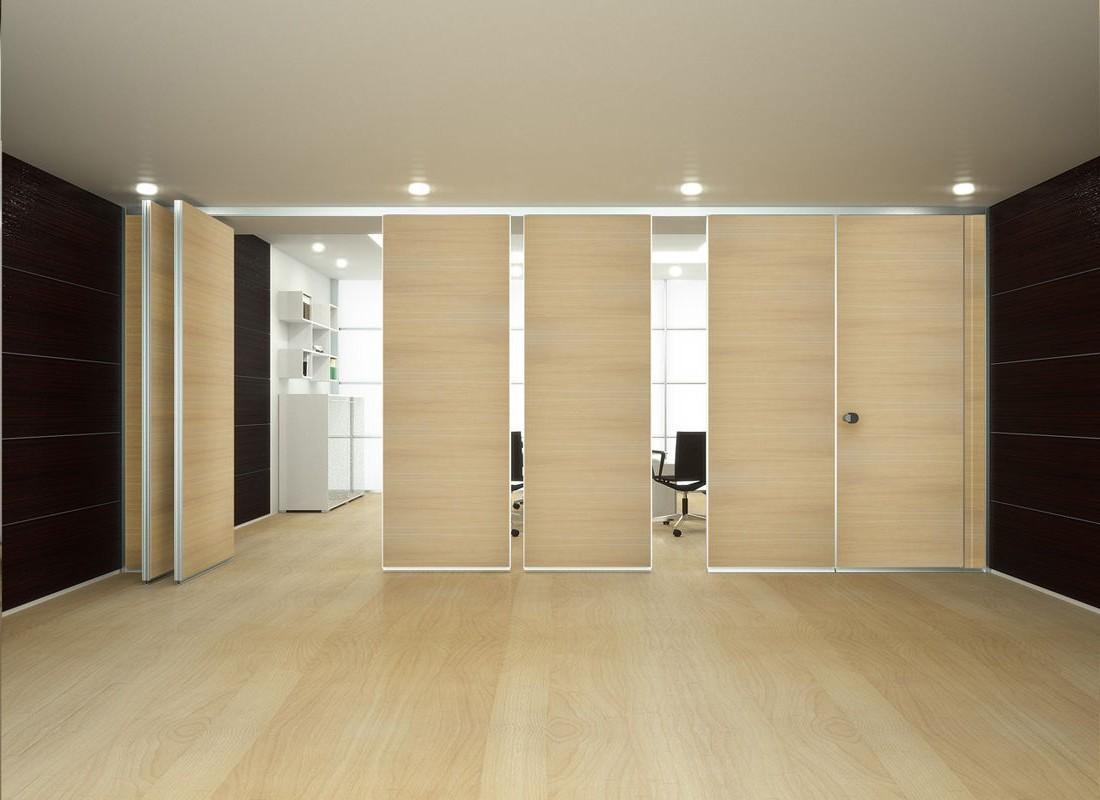 Paneles m viles de madera dise o de oficinas - Tabiques divisorios moviles ...