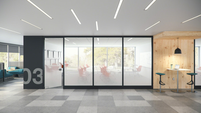 Puertas en vidrio dise o de oficinas for Aik sing interior decoration contractor