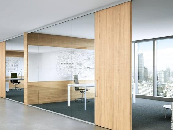 Puertas de madera con vidrio dise o de oficinas for Puertas en madera y vidrio