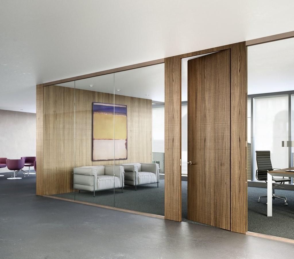Puertas de madera con vidrio dise o de oficinas for Puertas de madera con cristal