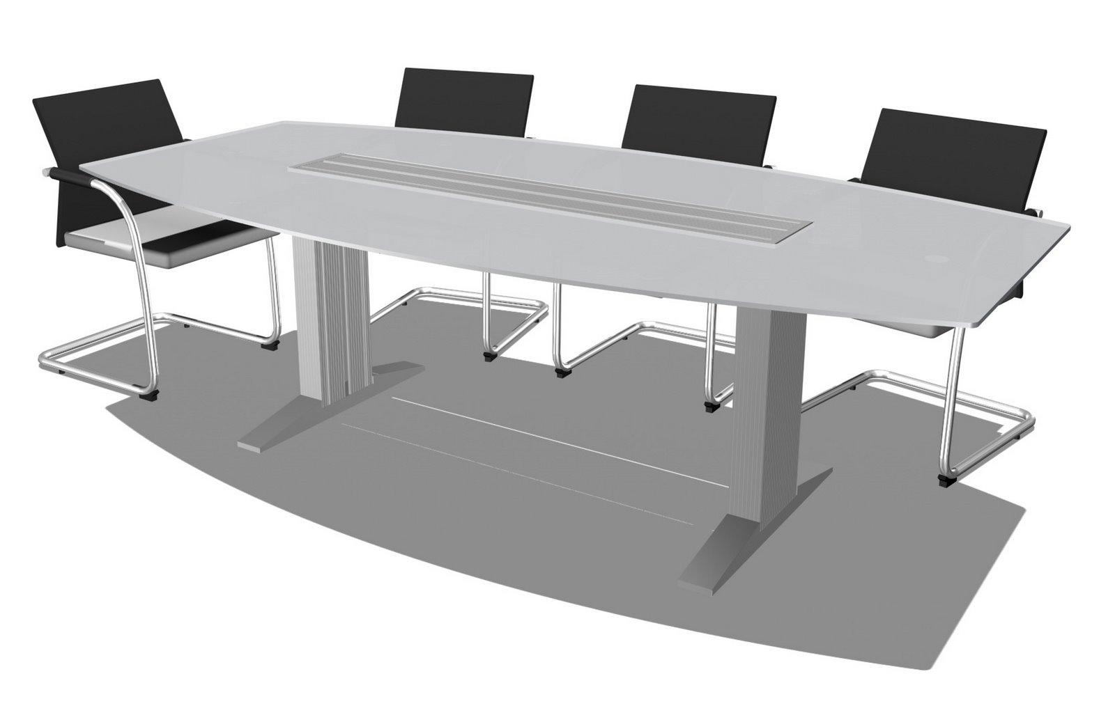 Mesas de juntas dise o de oficinas for Modelos de mesas de vidrio